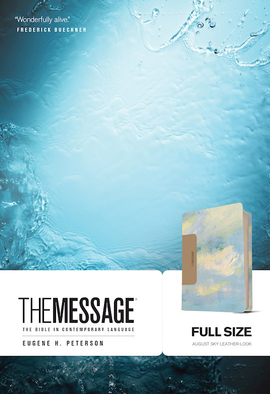 The Message Full Size Bible-Sky Blue LeatherLook | SHOPtheWORD
