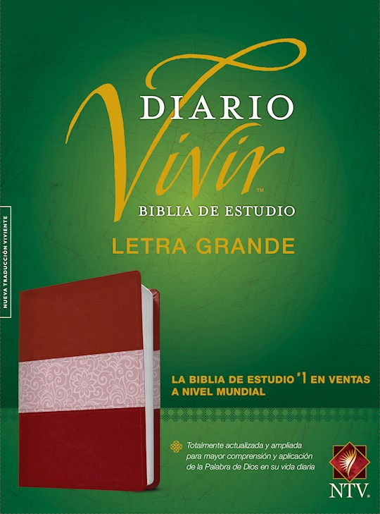 Span-NTV Life Application Study Bible/Large Print (Biblia De Estudio Del Diario Vivir)-Burgundy/Rose LeatherLike Indexed | SHOPtheWORD