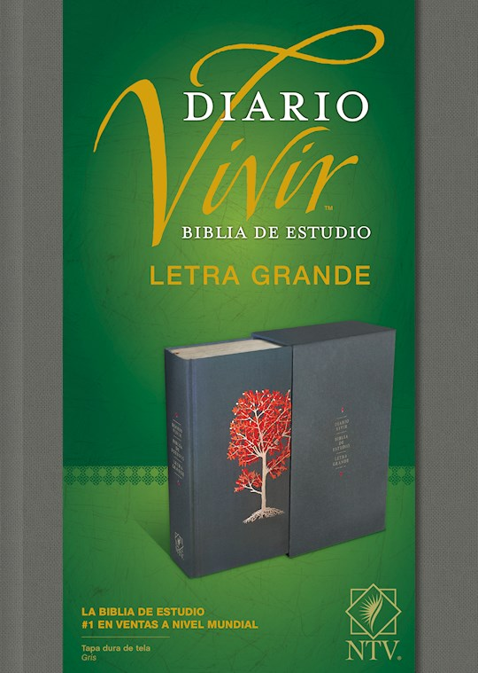 Span-NTV Life Application Study Bible/Large Print (Biblia De Estudio Del Diario Vivir)-Gray Hardcover | SHOPtheWORD