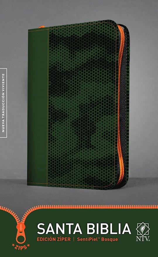 Span-NTV Holy Bible, Zipper Edition (Santa Biblia, Edicion Ziper)-Forest Green LeatherLike  | SHOPtheWORD