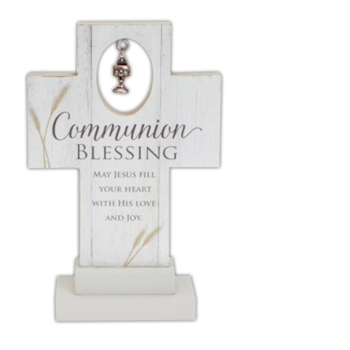 """Cross-Communion Blessing w/Metal Chalice Charm-Standing (6"""")   SHOPtheWORD"""