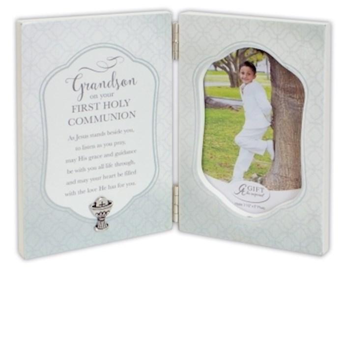 Frame-Grandson Communion-Hinged (Holds 3.5 x 5 Photo) | SHOPtheWORD