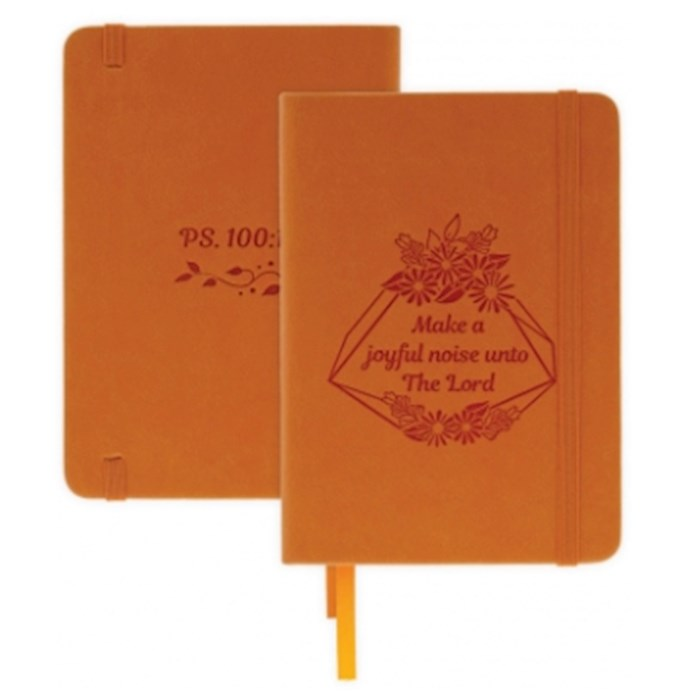 "Notebook-Make A Joyful Noise-Psalm 100:1 w/Elastic Band Closure (5"" x 7"") | SHOPtheWORD"