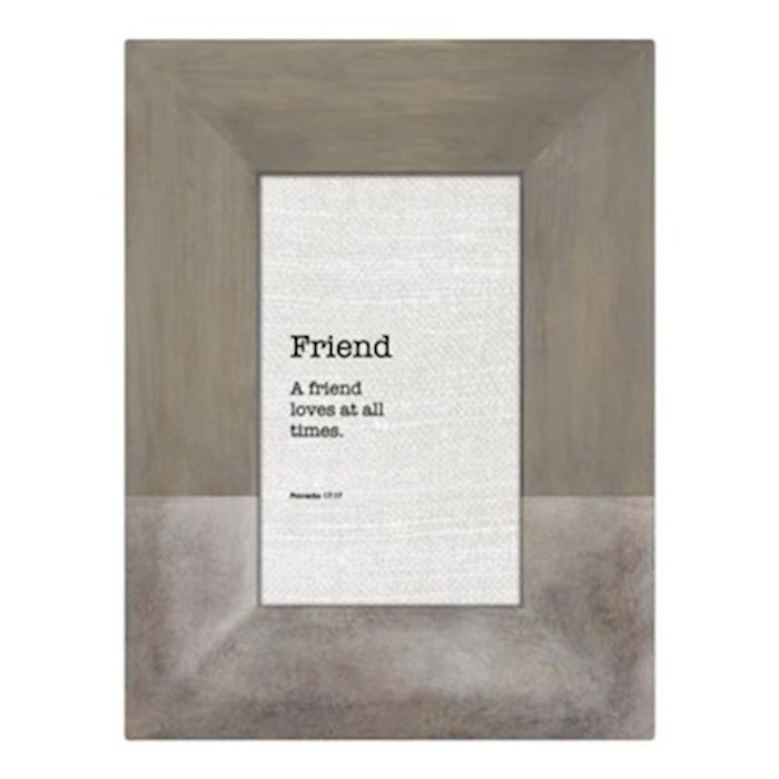 Framed Tabletop Christian Verse-Friend (Proverbs 17:17) (Holds 4 x 6 Photo) | SHOPtheWORD