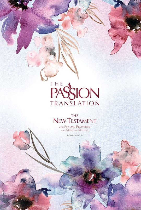 The Passion Translation New Testament With Psalms, Proverbs & SOS (2nd Edition)-Passion In Plum Hardcover | SHOPtheWORD