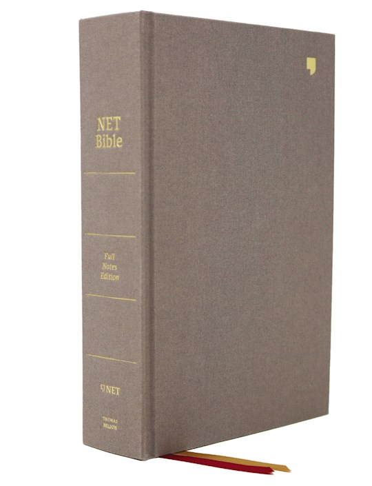 NET Bible (Full-Notes Edition) (Comfort Print)-Gray Cloth Over Board | SHOPtheWORD
