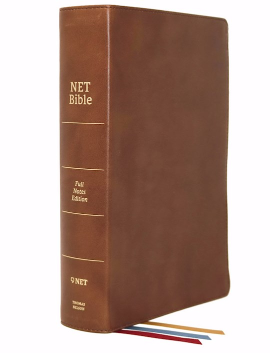 NET Bible (Full-Notes Edition) (Comfort Print)-Brown Genuine Leather Indexed | SHOPtheWORD