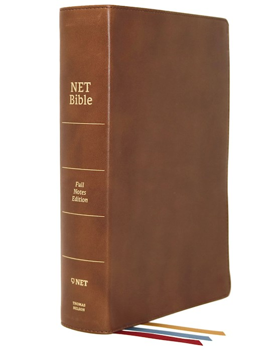 NET Bible (Full-Notes Edition) (Comfort Print)-Brown Genuine Leather | SHOPtheWORD