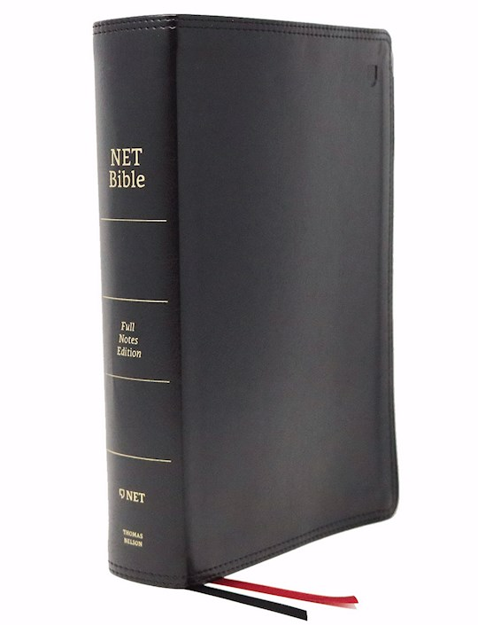 NET Bible (Full-Notes Edition) (Comfort Print)-Black Leathersoft | SHOPtheWORD