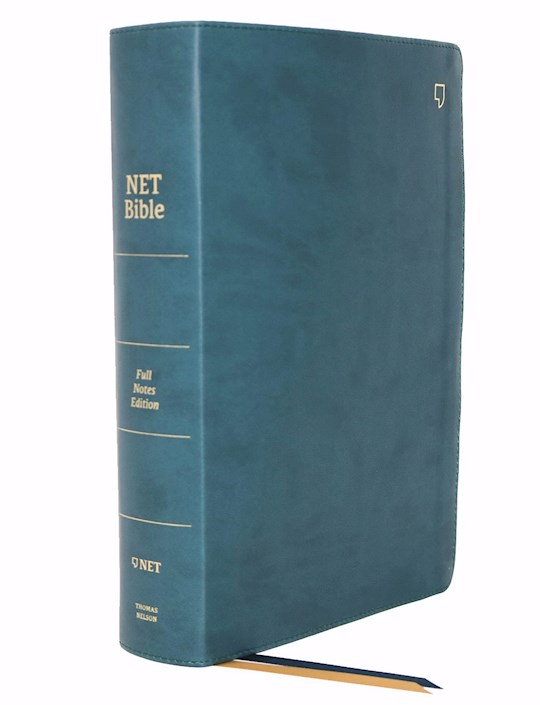 NET Bible (Full-Notes Edition) (Comfort Print)-Teal Leathersoft Indexed | SHOPtheWORD