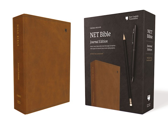 NET Bible (Journal Edition) (Comfort Print)-British Tan Leathersoft | SHOPtheWORD