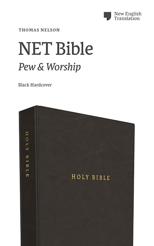 NET Pew And Worship Bible (Comfort Print)-Black Hardcover | SHOPtheWORD