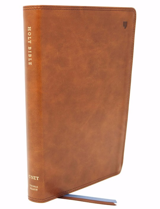 NET Thinline Bible/Large Print (Comfort Print)-British Tan Leathersoft Indexed | SHOPtheWORD