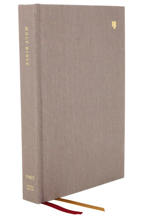 NET Thinline Bible (Comfort Print)-Gray Cloth Over Board | SHOPtheWORD