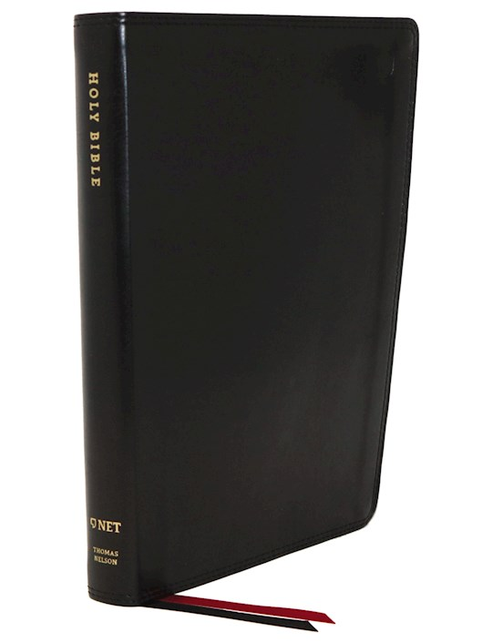 NET Thinline Bible (Comfort Print)-Black Leathersoft  | SHOPtheWORD