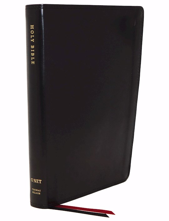 NET Thinline Bible (Comfort Print)-Black Leathersoft Indexed   SHOPtheWORD