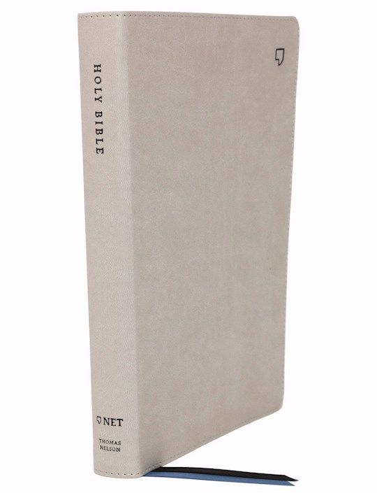 NET Thinline Bible (Comfort Print)-Stone Leathersoft Indexed | SHOPtheWORD