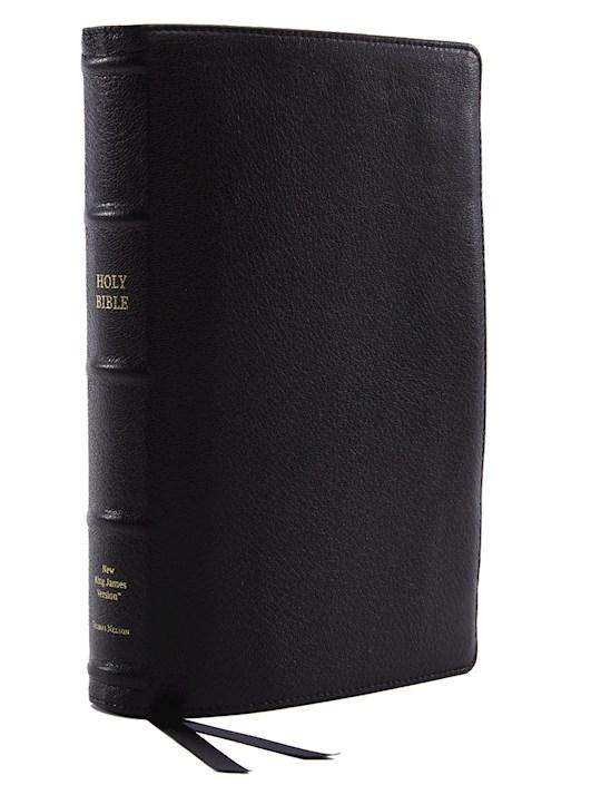 NKJV Center-Column Reference Bible (Comfort Print)-Black Premium Leather | SHOPtheWORD