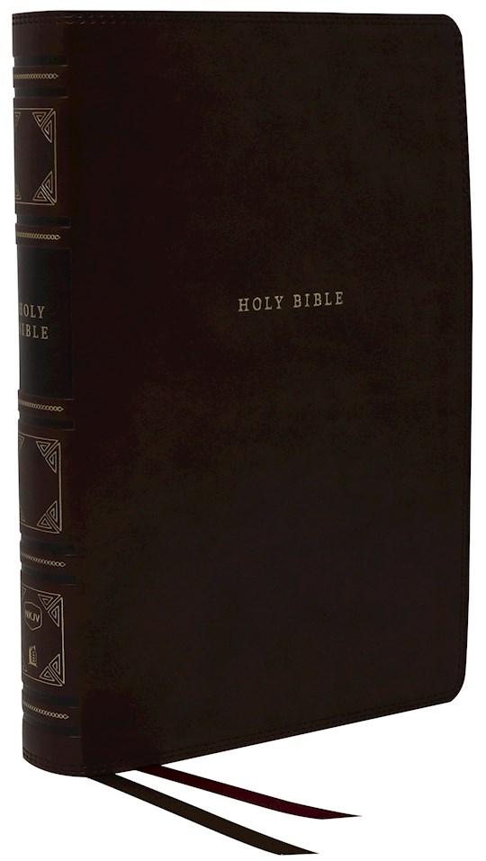 NKJV Center-Column Reference Bible (Comfort Print)-Black Leathersoft | SHOPtheWORD