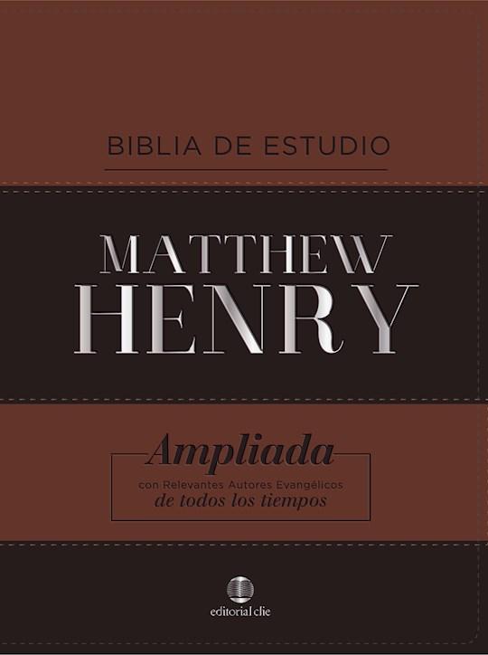 Span-RVR 1960 Matthew Henry Study Bible (Biblia De Estudio Matthew Henry)-Brown/Black  Leathersoft | SHOPtheWORD