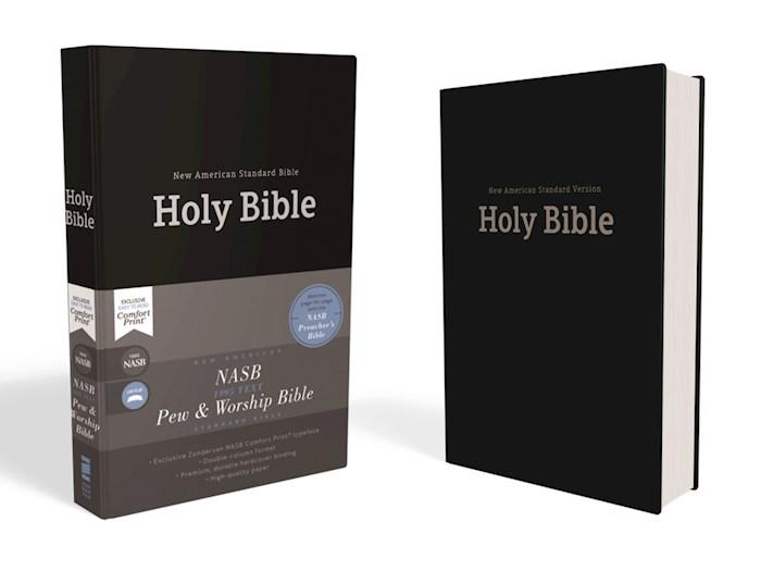 NASB Pew And Worship Bible (Comfort Print)-Black Hardcover | SHOPtheWORD