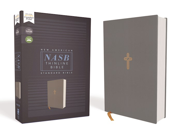 NASB Thinline Bible (Comfort Print)-Gray Cloth Over Board | SHOPtheWORD