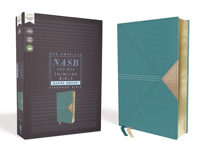 NASB Thinline Bible/Giant Print (Comfort Print)-Teal Leathersoft | SHOPtheWORD