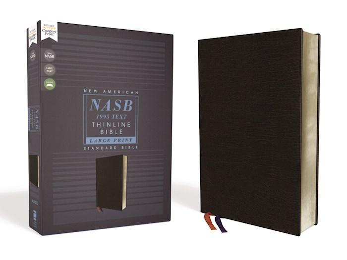 NASB Thinline Bible/Large Print (Comfort Print)-Black Bonded Leather | SHOPtheWORD