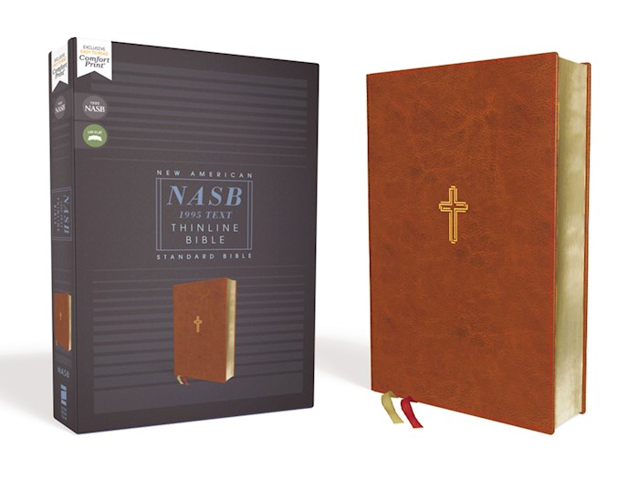 NASB Thinline Bible (Comfort Print)-Brown Leathersoft | SHOPtheWORD