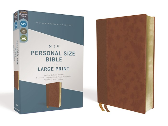 NIV Personal Size Large Print Bible (Comfort Print)-Brown Leathersoft | SHOPtheWORD