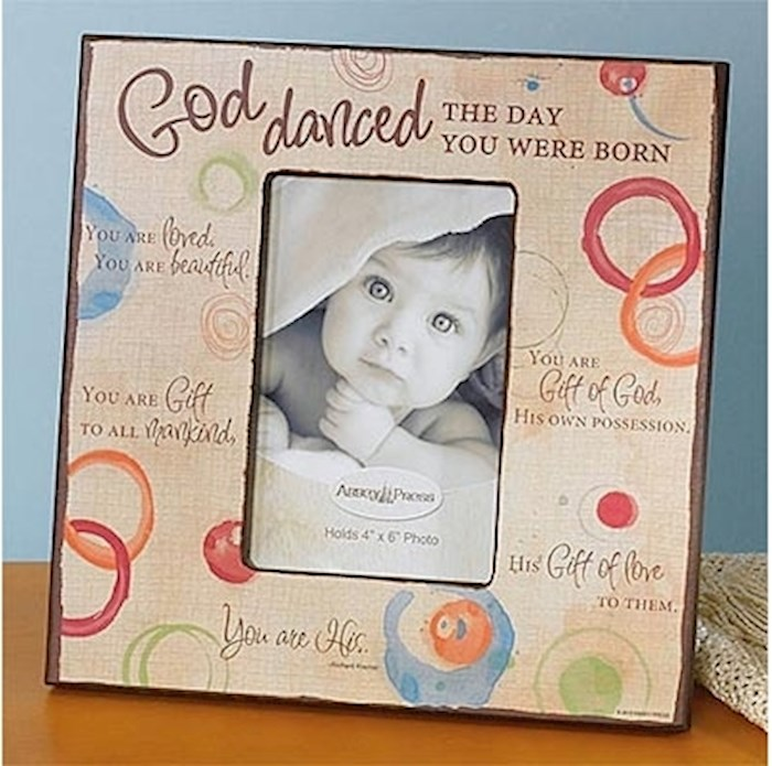 """Frame-God Danced (For Wall or Table) (Holds 4"""" x 6"""")   SHOPtheWORD"""