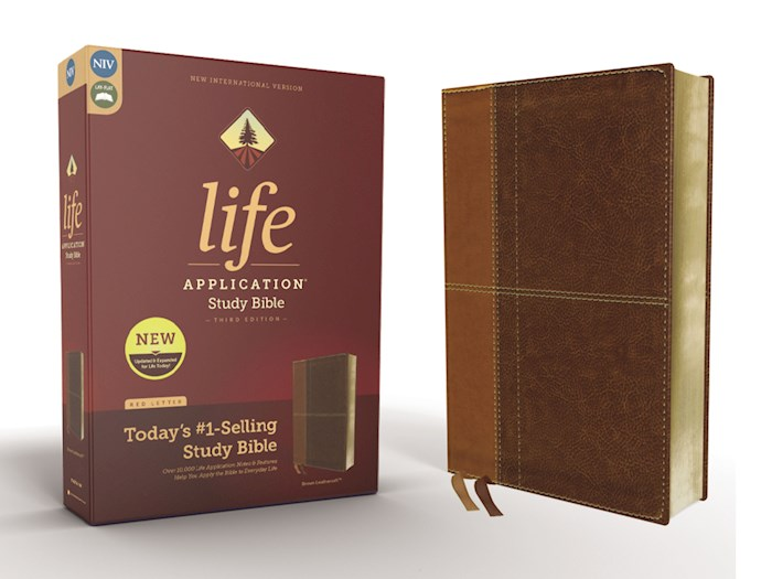 NIV Life Application Study Bible (Third Edition)-Tan/Brown Leathersoft | SHOPtheWORD