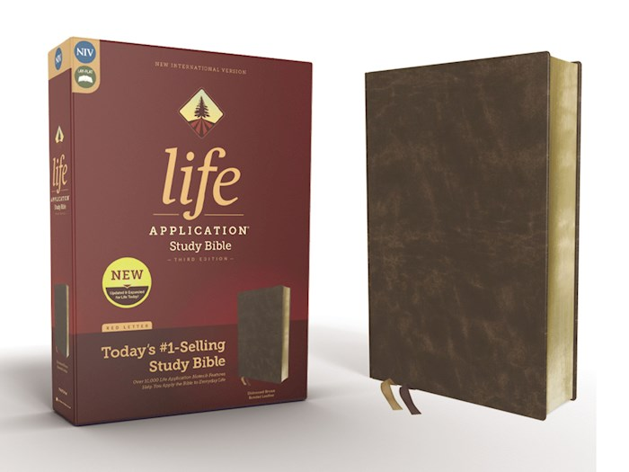 NIV Life Application Study Bible (Third Edition)-Distressed Brown Bonded Leather | SHOPtheWORD