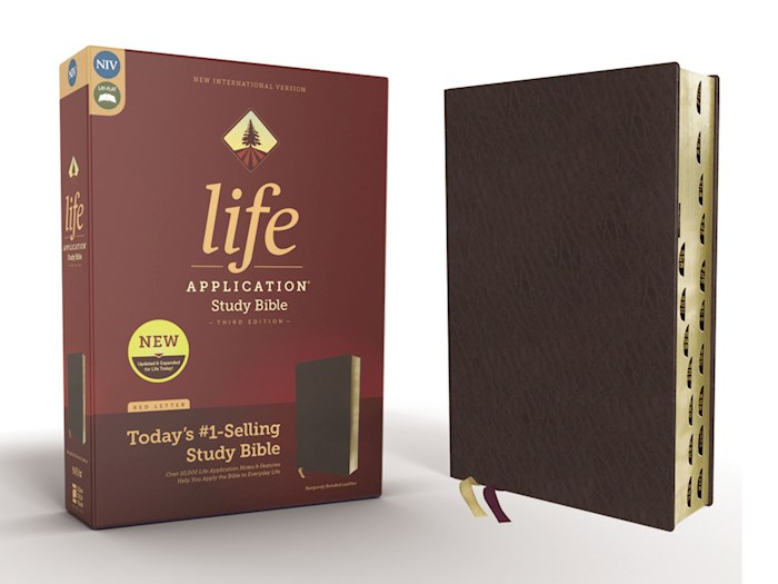 NIV Life Application Study Bible (Third Edition)-Burgundy Bonded Leather Indexed | SHOPtheWORD