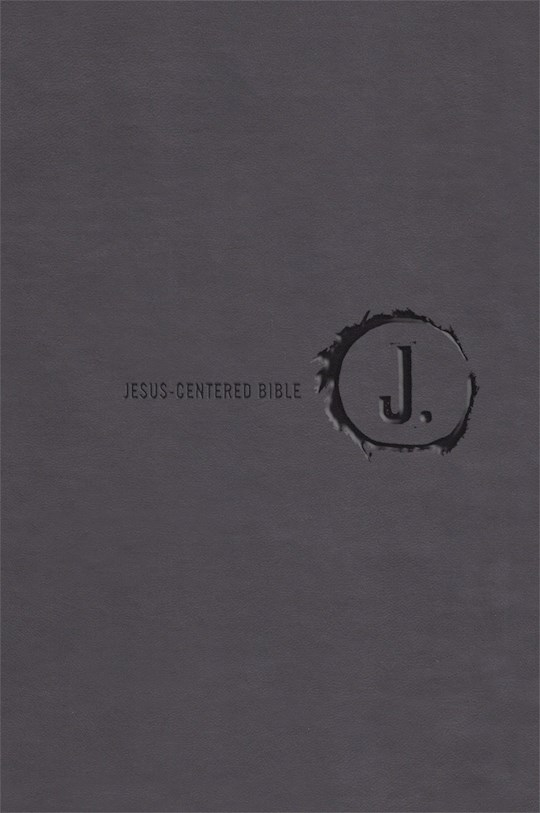 NLT Jesus-Centered Bible-Charcoal Imitation Leather (Second Edition) | SHOPtheWORD