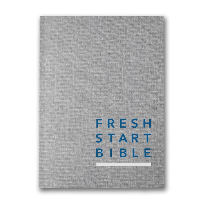 NLT Fresh Start Bible-Linen Hardcover | SHOPtheWORD