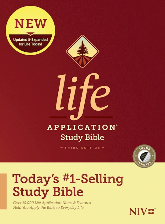 NIV Life Application Study Bible (Third Edition)-Hardcover Indexed | SHOPtheWORD