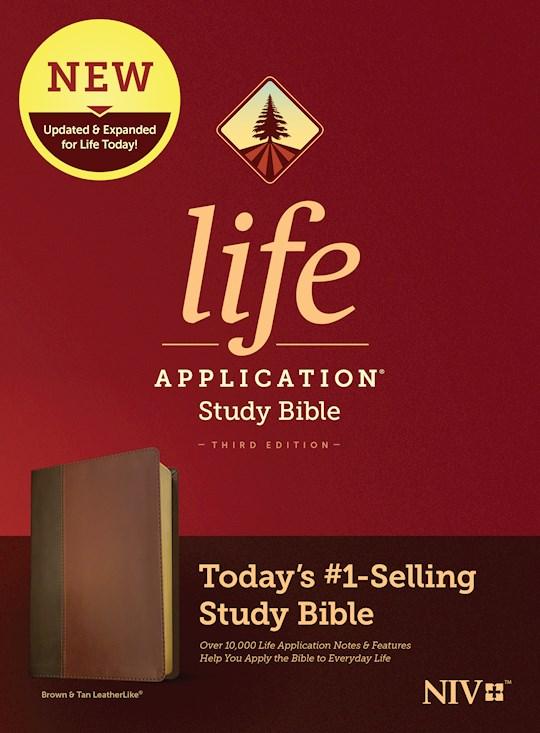 NIV Life Application Study Bible (Third Edition)-Brown/Tan LeatherLike | SHOPtheWORD