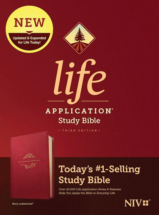 NIV Life Application Study Bible (Third Edition)-Berry LeatherLike | SHOPtheWORD