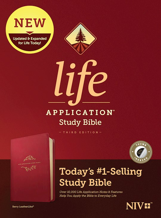 NIV Life Application Study Bible (Third Edition)-Berry LeatherLike Indexed | SHOPtheWORD