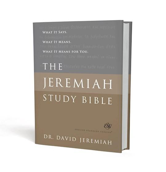 ESV The Jeremiah Study Bible-Hardcover | SHOPtheWORD