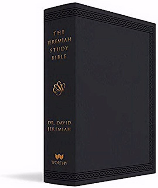 ESV The Jeremiah Study Bible-Black Leatherluxe Indexed | SHOPtheWORD