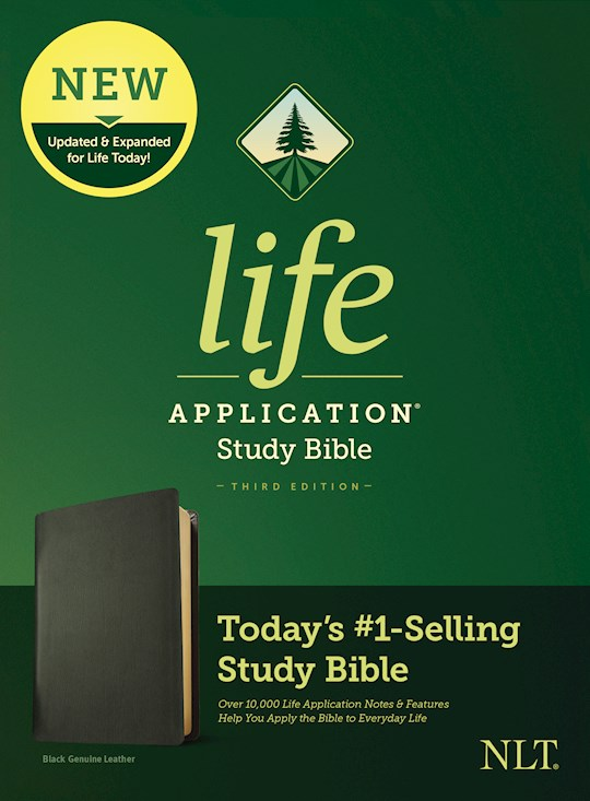 NLT Life Application Study Bible (Third Edition)-Black Genuine Leather | SHOPtheWORD