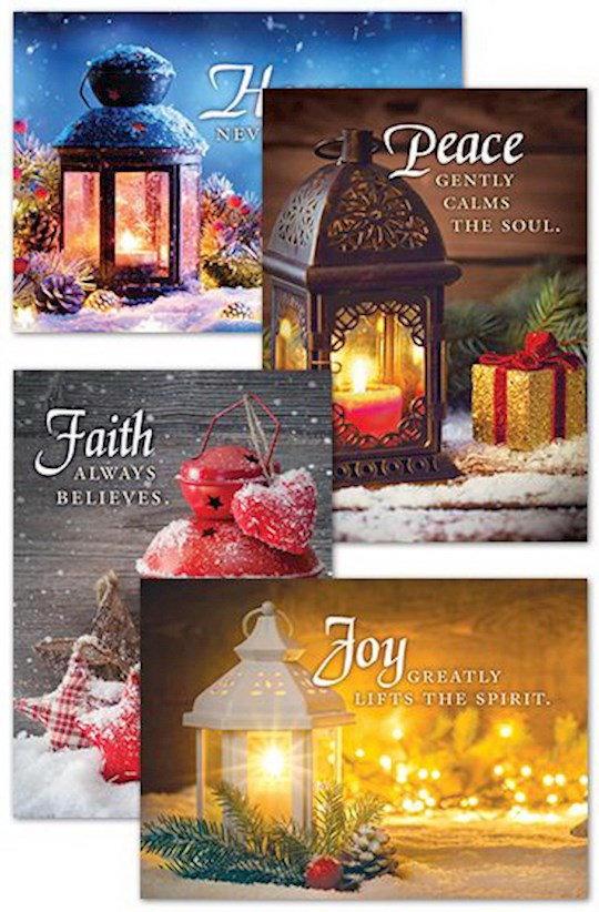 Card-Boxed-Christmas Lanterns Assorted (4 Designs) (KJV) (Box Of 12)   SHOPtheWORD