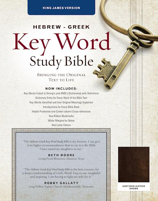 KJV Hebrew-Greek Key Word Study Bible-Brown Genuine Goat Leather   SHOPtheWORD