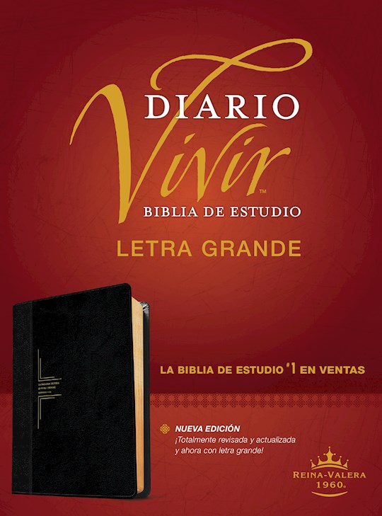Span-RVR 1960 Life Application Study Bible/Large Print (Biblia de Estudio del Diario Vivir, Grande)-Black LeatherLike | SHOPtheWORD