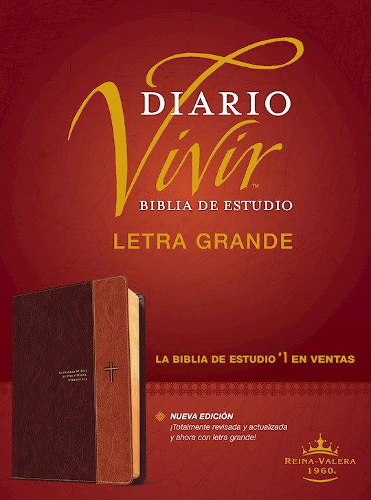 Span-RVR 1960 Life Application Study Bible/Large Print (Biblia de Estudio del Diario Vivir, Grande)-Brown LeatherLike | SHOPtheWORD