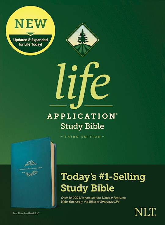 NLT Life Application Study Bible (Third Edition)-Teal Blue LeatherLike | SHOPtheWORD