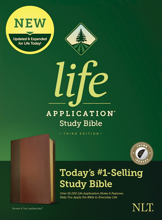NLT Life Application Study Bible (Third Edition)-Brown/Tan LeatherLike Indexed | SHOPtheWORD