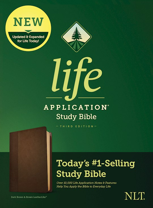 NLT Life Application Study Bible (Third Edition)-Dark Brown/Brown LeatherLike | SHOPtheWORD